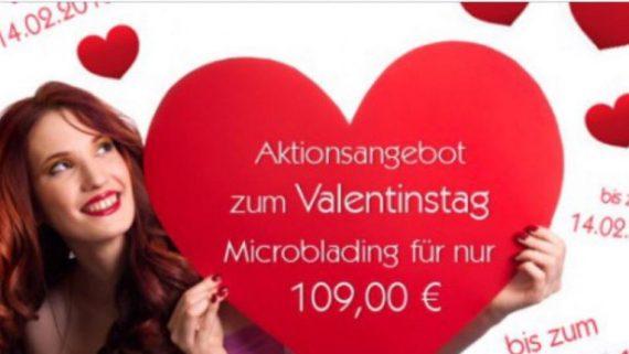 Valentinstagsangebot – Microblading